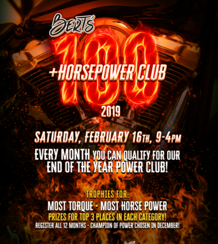 Bert's 100+ Horse Power Club ~ February