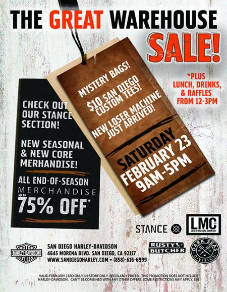 The Great Warehouse Sale!