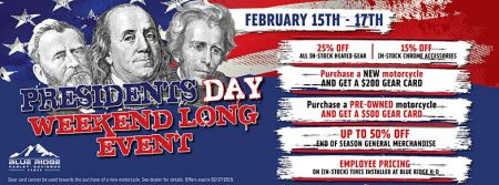 President's Day Weekend Long Event