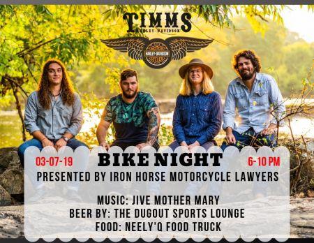 Bike Night w/ Jive Mother Mary