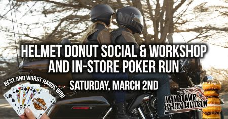 Helmet Donut Social/Workshop & In-Store Poker Run