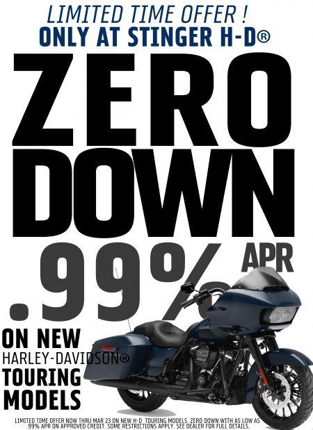 Zero down and  .99%APR