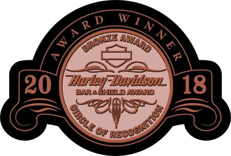 Northwest Harley-Davidson earned the prestigious Bar & Shield Circle of Achievement Award for 2018