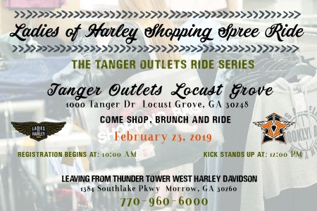 Ladies of Harley Shopping Spree Ride