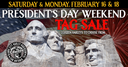 President's Day Weekend Tag Sale