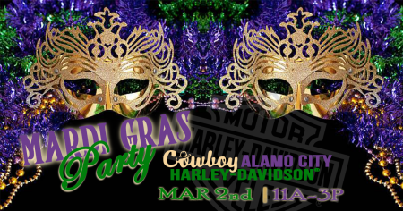 Mardi Gras Party at Cowboy's Alamo City H-D