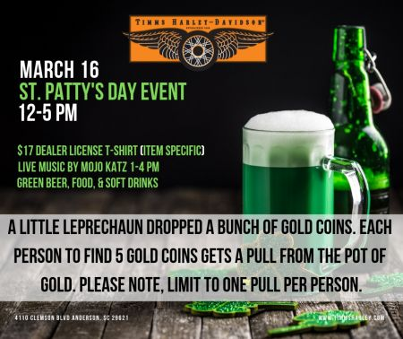 St Patrick's Day Event