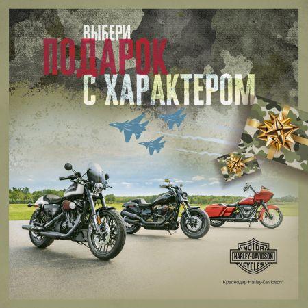 Подарки с характером в Краснодар Harley-Davidson!