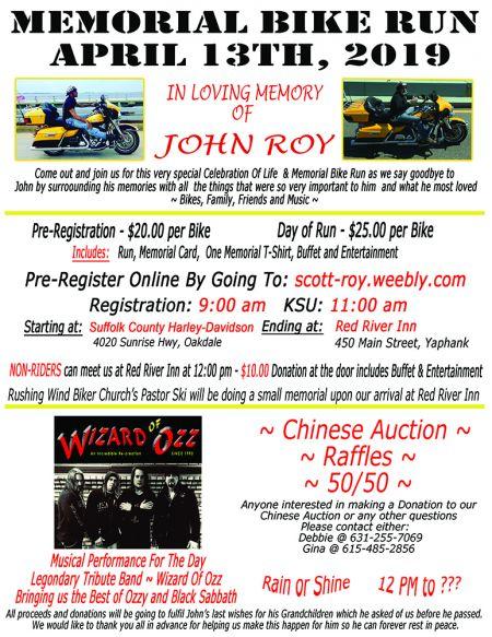 John Roy Memorial Bike Run