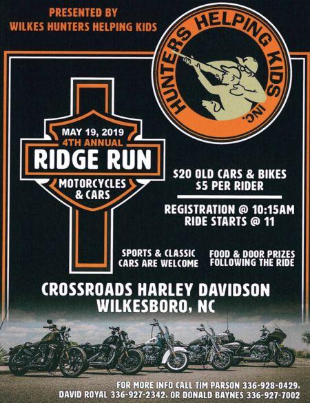 Hunters Helping Kids 4th Annual Ridge Run