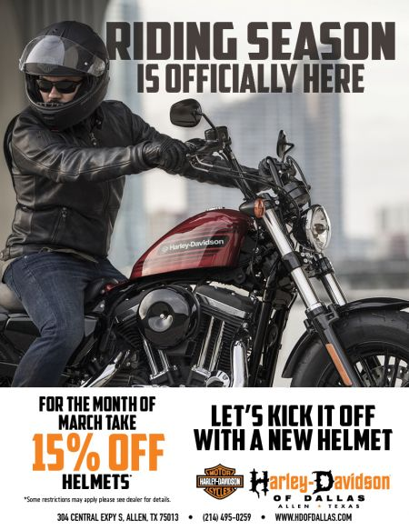 For the Month of March take 15% HELMETS!