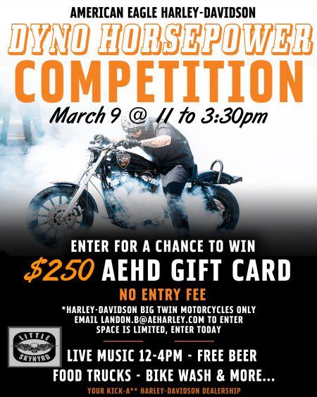 DYNO HORSEPOWER COMPETITION | American Eagle Harley-Davidson®