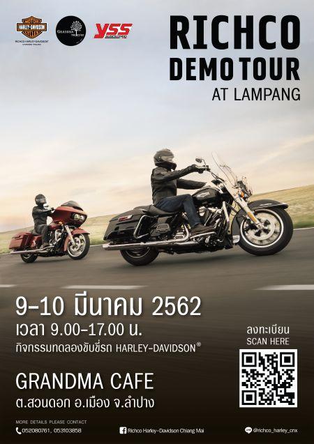 Richco Harley-Davidson Demo Tour in Lampang
