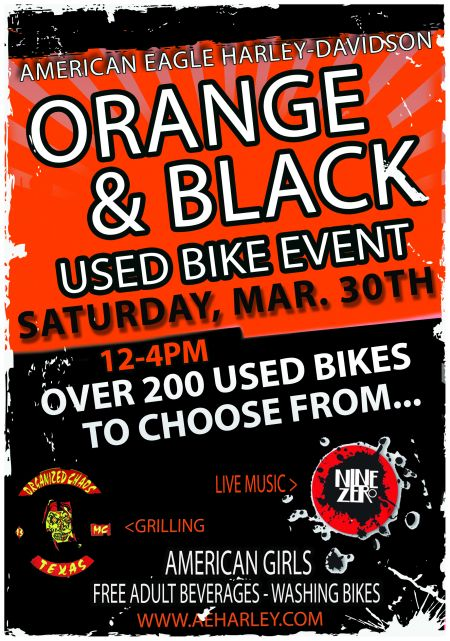 Orange & Black Used Bike Event