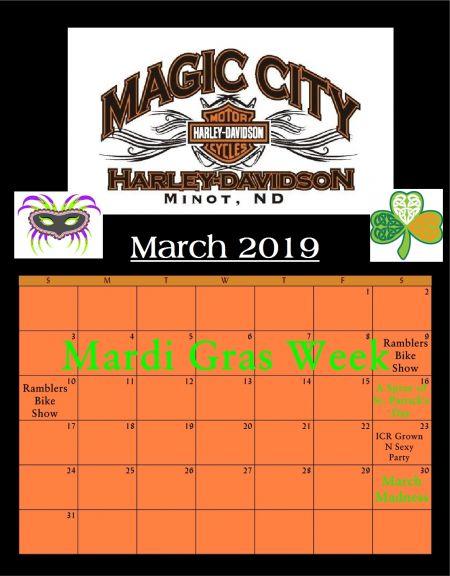 March Event Calendar