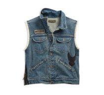 Men's Dress Blues Blowout Slim Fit Denim Vest