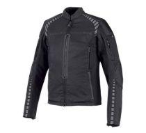 Mens Black Geyser Stretch Slim Fit Riding Jacket