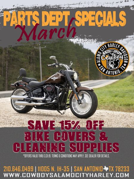 Parts Specials for March