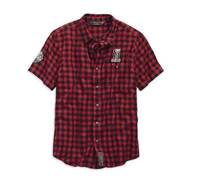 Men's Plaid Checked Plaid Slim Fit Shirt