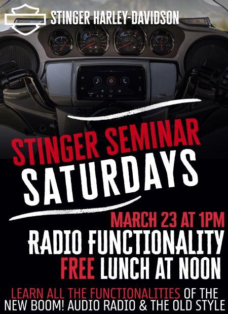 Stinger Seminar Saturday