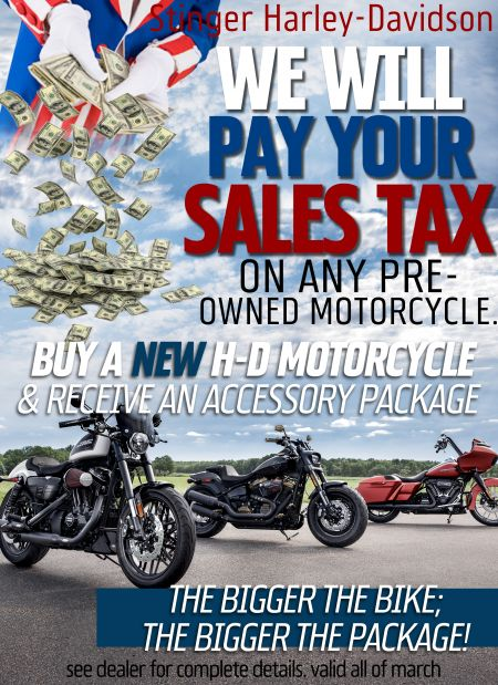 We Pay Sales Tax OR Accessory Package !