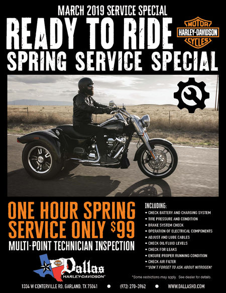 One Hour Spring Service Only $99 (March Service Special)