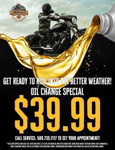 RMHD Get Ready to Ride Into the Better Weather~Oil Change Special