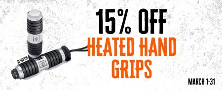 15% OFF HEATED HAND GRIPS