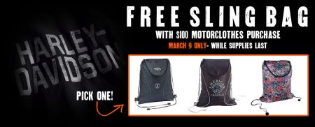 FREE SLING BAG- MARCH 9