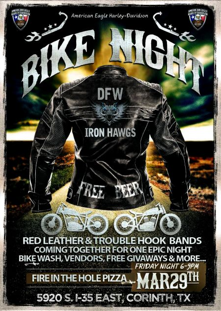 BIKE NIGHT @ AEHD W/THE DFW IRON HAWGS