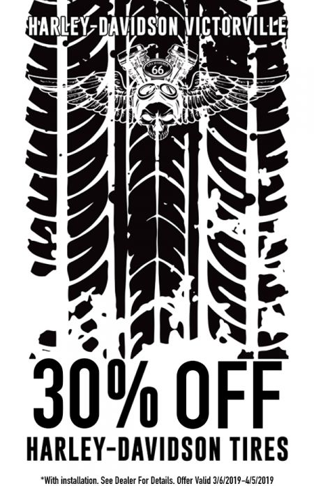 30% Off H-D Tires