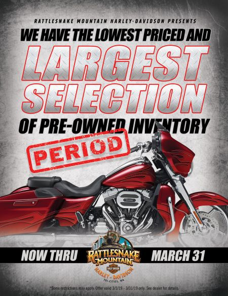 LARGEST SELECTION OF PRE-OWNED HARLEY'S