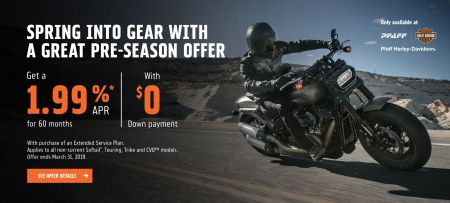1.99% RATE FOR 60 MONTHS & $0 DOWN ON NEW NON-CURRENT MOTORCYCLES