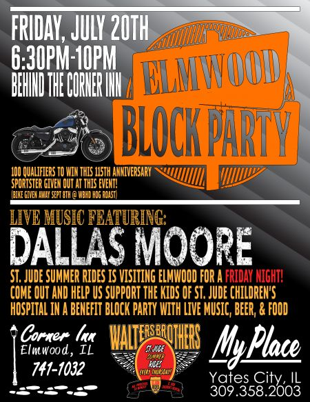 Friday Night Elmwood Block Party Featuring Dallas Moore!