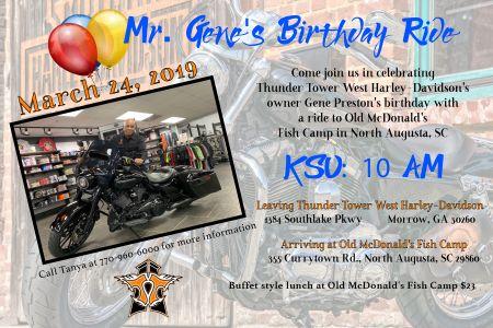 Mr. Gene's Birthday Ride