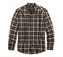 SHIRT-HERRINGBONE,WVN,PLD,SFC