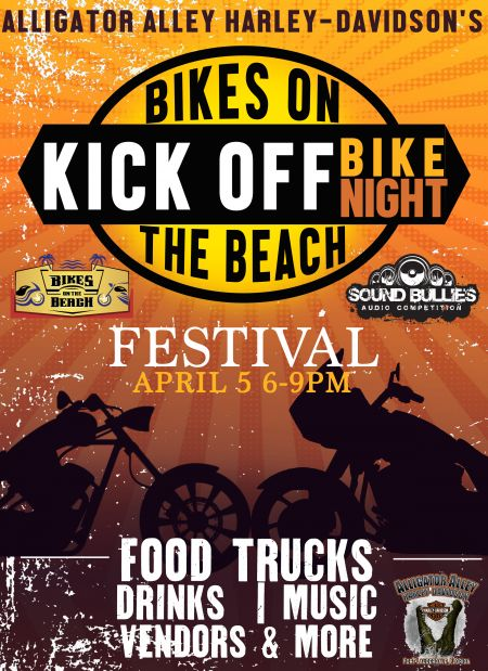 Bike On The Beach Kick Off Bike Night