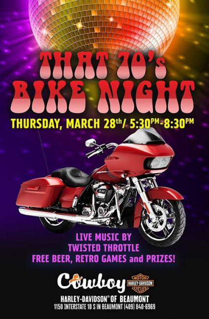 That 70's Bike Night - Peace, Love, & Harleys