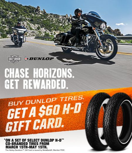 Dunlop Tire Promotion : Chase Horizons. Get Rewarded.