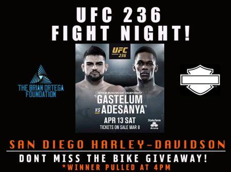 UFC FIGHT NIGHT & BIKE GIVEAWAY!