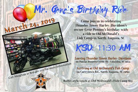 Gene Preston's Birthday Ride