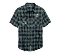 Patch Plaid Slim Fit Shirt