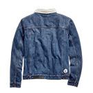 Mens GARAGE COLLECTION sherpa fleece denim jacket