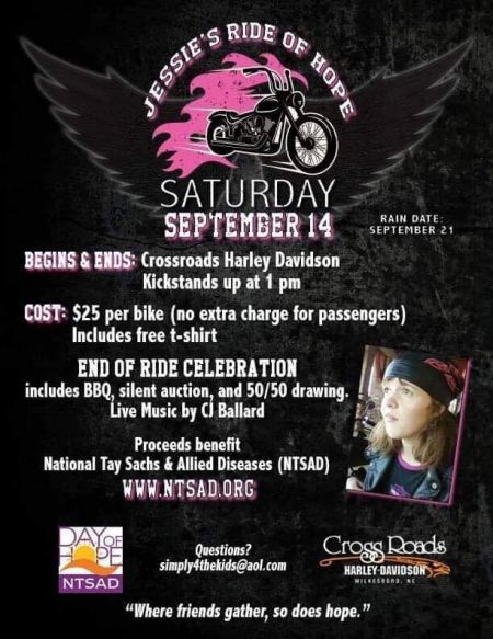 Jessie's Ride of Hope Saturday, September 14th