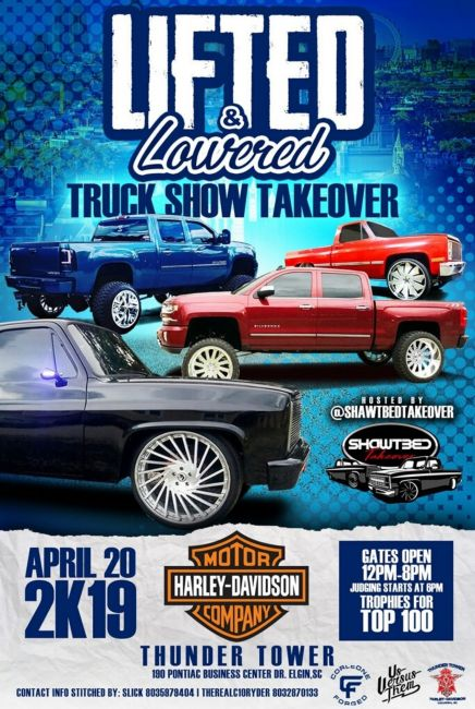 Lifted and Lowered Truck Show
