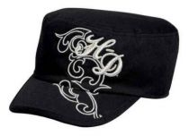 H-D Metallic Embroidered Flat Top Cap