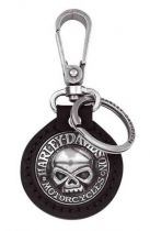 Willie G. Skull Medallion Key Chain Fob