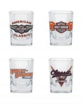 Classic Shot Glass Set, 2 oz. Set of 4 Bar Glassware