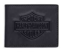 Men's B&S Logo Bi-Fold Leather Wallet
