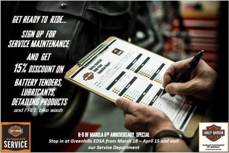 H-D of Manila's 6th Anniversary Service Promotions